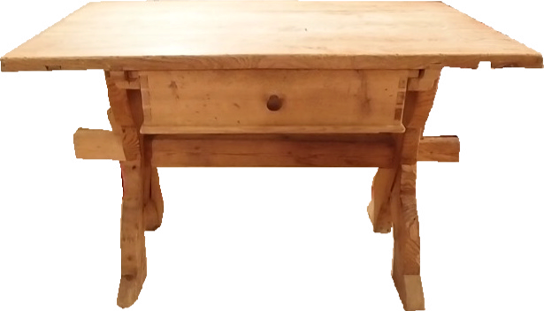 Tisch hell mit Schublade